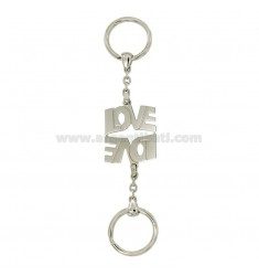 KEY RING DIVIDED LOVE LOVE WITH HOOK BRISE &39TIT SILVER 925
