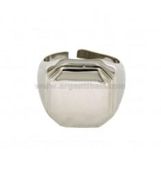 Kant Ring MM 18X18 Silber rhodiniert TIT 925 ‰ mit veränderbarer Länge