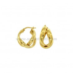 RED EARRINGS WITH CUTTING SILVER SILVER PLATED GOLD TIT 925 ‰