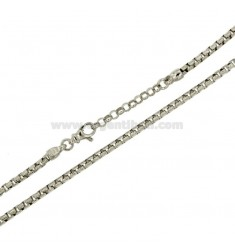 DIAMANT KETTE SHIRT KOREANISCH 3.5 MM CM 45.50 Silber rhodiniert TIT 925