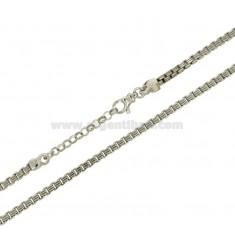 VENETIANISCHE KETTE MM 3 CM 45.50 Silber rhodiniert TIT 925 ‰