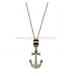 PENDANT STILL MM 28x20 STEEL WITH FLAGS NAUTICAL GLAZED AND CHAIN CABLE 50 CM