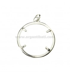 FRAME FOR COIN SILVER 25 MM 925 ‰