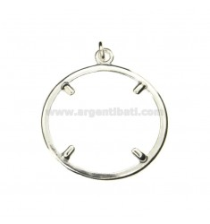 FRAME FOR COIN SILVER 27 MM 925 ‰