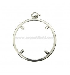 FRAME FOR COIN SILVER 28 MM 925 ‰