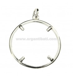 FRAME FOR COIN SILVER 925 32 MM ‰ 1/4 DOLLAR