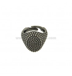 OVAL RING 17x11 MM WITH MICRO SILVER BRUNITO TIT 925 ‰ SIZE ADJUSTABLE MIGNOLO