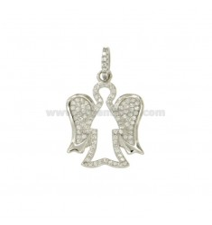 CHARM ANGEL MM 23x18 SILVER RHODIUM TIT 925 ‰ AND ZIRCONIA