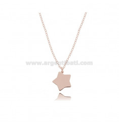 ROLO NECKLACE WITH STAR PENDANT IN COPPER SILVER TIT 925 ‰ CM 45