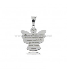 PENDANT ANGEL WITH PRAYER ECO MM 20X19 SILVER RHODIUM TIT 925