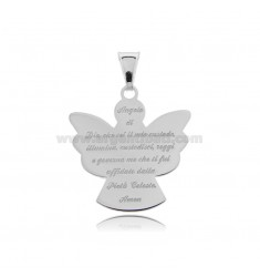 PENDANT ANGEL WITH PRAYER ECO MM 25X24 SILVER RHODIUM TIT 925