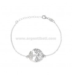 ROLO BRACELET WITH CENTRAL SHAFT IN SILVER RHODIUM TIT 925 ‰ CM 18