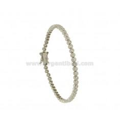 Tennis.Armband A Cipollina hoher Qualität &quotCM 18 Silber rhodiniert TIT 925 ‰ und Zirkoniumdioxid WHITE MM 2