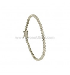 HIGH QUALITY CHIP TENNIS BRACELET 21 CM IN RHODIUM-PLATED SILVER TIT 925 ‰ AND WHITE ZIRCONS MM 2