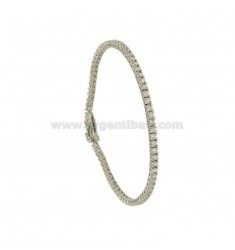 TENNIS BRACELET HIGH QUALITY &39CM 18 SILVER RHODIUM TIT 925 ‰ AND ZIRCONIA WHITE MM 2