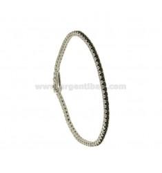 Tennis.Armband hoher Qualität &quotCM 18 Silber rhodiniert TIT 925 ‰ und Zirkoniumdioxid BLACKS MM 2