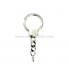 HOOK KEY RING ROUND MM 70X27 SILVER TITLE 925