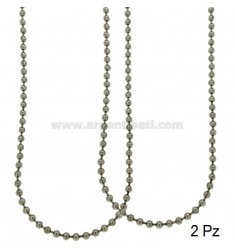 CHAIN MILITARY BALL MM 4 PZ 2 CM 60 STEEL