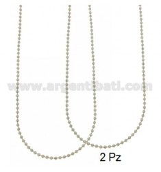 CHAIN MILITARY BALL 2.5 MM 2 PZ CM 90 STEEL