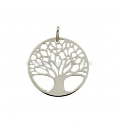 TREE OF LIFE PENDANT 25 MM MM SLAB 12:50 SILVER RHODIUM TIT 925 ‰