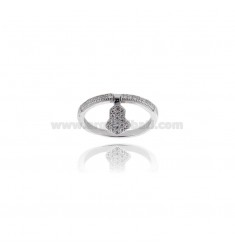 VERETTA RING WITH HAND OF FATIMA PENDANT SILVER TIT 925 ‰ AND ZIRCONIA MEASURE 16
