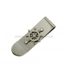 MONEY CLIPS STEEL WITH STEERING AND CRYSTAL
