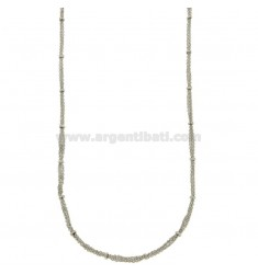 NECKLACE CABLE 3 WIRES WITH DONUTS IN BRONZE RODIATO CM 45.50
