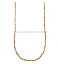 COLLAR cable de 3 hilos con donuts en bronce de cobre 45.50 CM