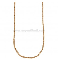 KETTE CABLE 3 Adern mit DONUTS IN BRONZE KUPFER CM 45.50