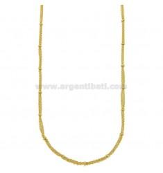 COLLAR cable de 3 hilos con donuts en bronce dorado CM 45.50