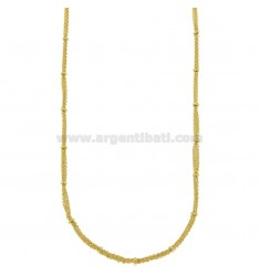 KETTE CABLE 3 Adern mit DONUTS IN BRONZE GOLDEN CM 45.50