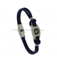 ROPE BRACELET WITH WIND ROSE CENTRAL STEEL BRUNITO