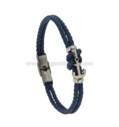 BRACELET WITH ROPE KNOT AGAIN AND CENTRAL STEEL