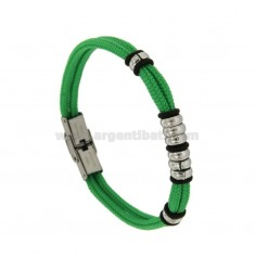 ROPE BRACELET WITH STEEL WASHER