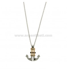 CHAIN CABLE 50 CM AND CHARM ANCHOR STEEL TRICOLORE