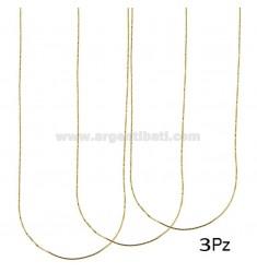 PZ 3 VENETIAN CHAIN MM 0.8 CM 40 IN GOLDEN AG TIT 925 ‰