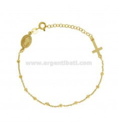 BRACELET ROSARY CABLE WITH BALL 2.5 MM IN SILVER TIT 925 ‰ CM 17.20