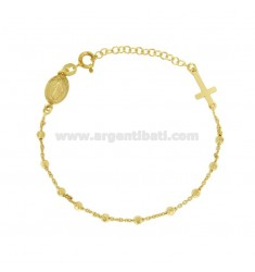 BRACELET ROSARY CABLE WITH BALLS faceted 3 MM IN SILVER TIT 925 ‰ CM 18.21