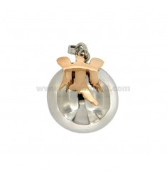CALLING ANGELS PENDANT 19 MM WITH ANGEL SILVER COLOURED TIT 925 ‰