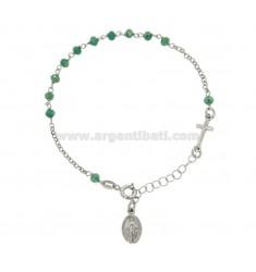 Rosenbeetarmband mit Steinen in Silber rhodiniert TIT 925 CM