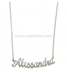 ROLO NECKLACE &39CM 45 WITH NAME ALESSANDRA SILVER RHODIUM TIT 925 ‰