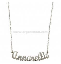 ROLO NECKLACE &39CM 45 WITH NAME annarella SILVER RHODIUM TIT 925 ‰