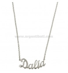 ROLO NECKLACE &39CM 45 WITH NAME DALIA SILVER RHODIUM TIT 925 ‰