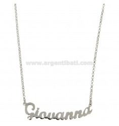 ROLO NECKLACE &39CM 45 WITH NAME GIOVANNA SILVER RHODIUM TIT 925 ‰