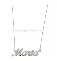ROLO NECKLACE &39CM 45 WITH NAME MARIA IN SILVER RHODIUM TIT 925 ‰