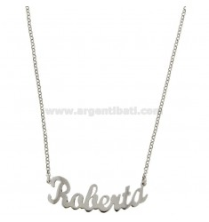 ROLO NECKLACE &39CM 45 WITH NAME ROBERTA SILVER RHODIUM TIT 925 ‰