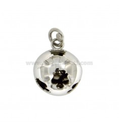 CALLING ANGELS PENDANT 19 MM WITH ANGELS PERFORATED SILVER RHODIUM TIT 925 ‰