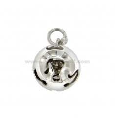 CALLING ANGELS PENDANT 19 MM WITH KITTENS PERFORATED SILVER RHODIUM TIT 925 ‰