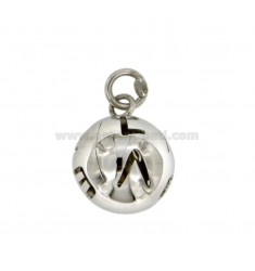 CALLING ANGELS PENDANT 19 MM WITH LOVE TRAFORATO SILVER RHODIUM TIT 925 ‰