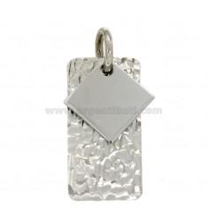 PENDANT RECHTECKIGEN MM 32x16 Silber rhodiniert TIT 925 ‰